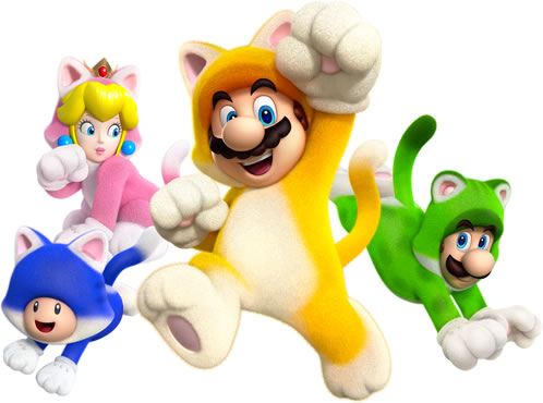 The four main playable characters in their Cat form