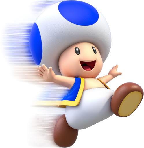 Toad Running without dust