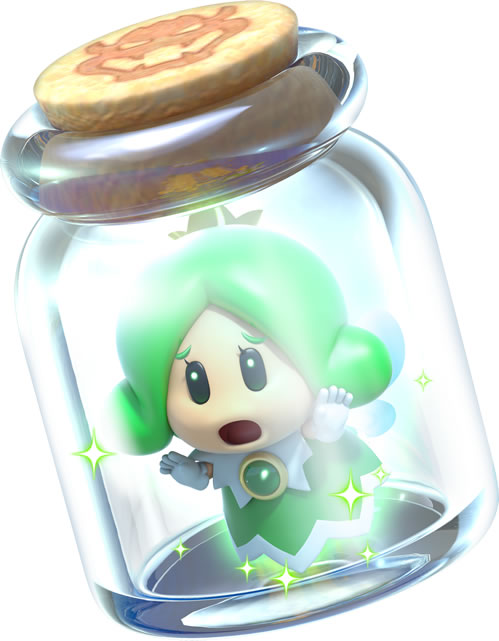 The Green Sprixie Princess captured in a bottle
