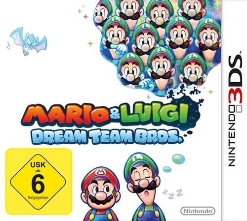 German Box Art for Mario & Luigi: Dream Team on the Nintendo 3DS
