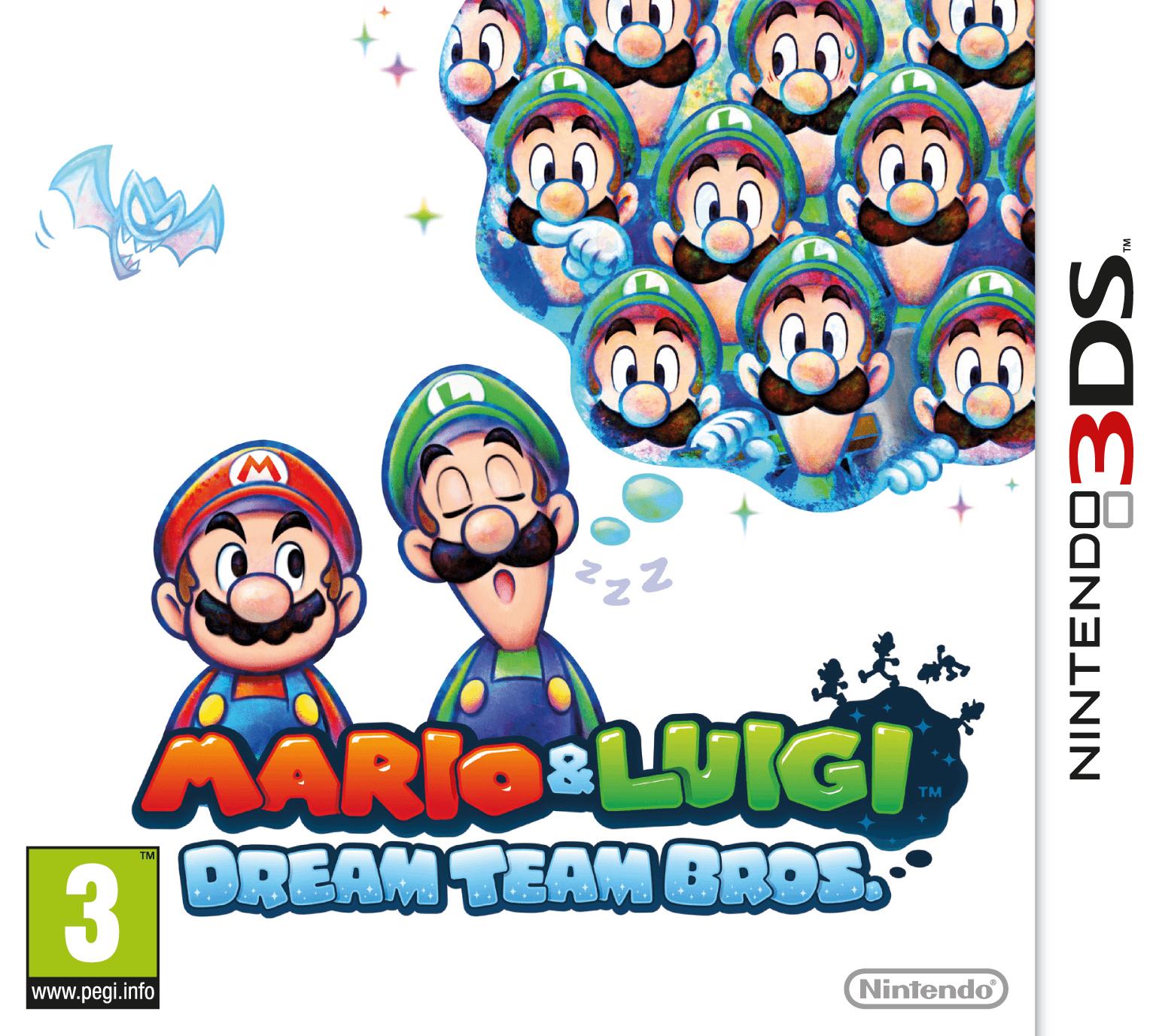 Mario Luigi Dream Team 3ds Box Art