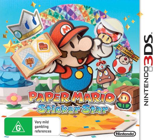 Paper Mario: Sticker Star Australian Box art