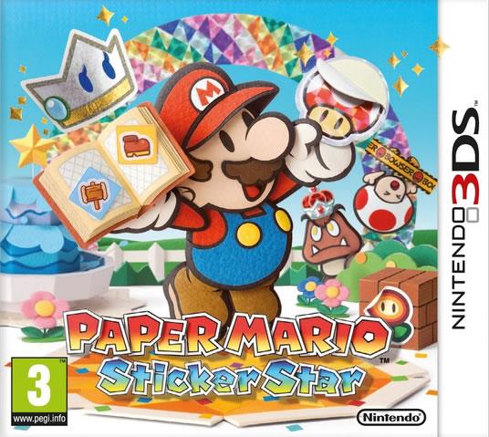Paper Mario: Sticker Star European Box Art