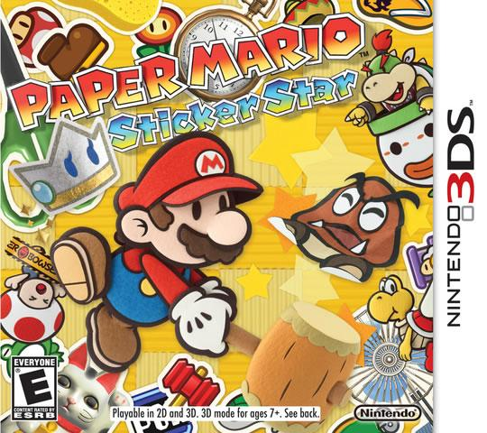 Paper Mario: Sticker Star North American Box Art