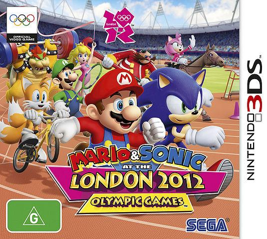Australian Box Art for Mario & Sonic at the London 2012 Olympic Games - 3DS Version