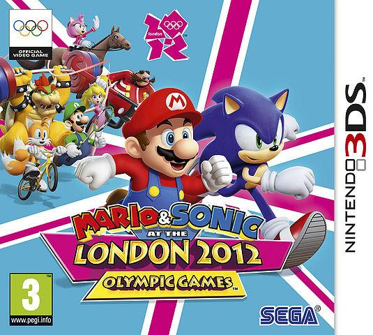 British Box Art for Mario & Sonic at the London 2012 Olympic Games - 3DS Version