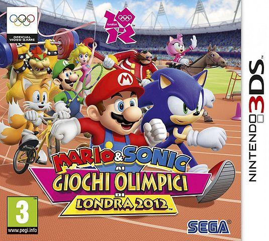Italian Box Art for Mario & Sonic at the London 2012 Olympic Games - 3DS Version