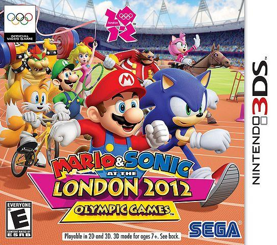 North American Box Art for Mario & Sonic at the London 2012 Olympic Games - 3DS Version