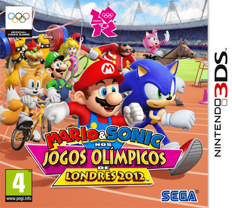 Portuguese Box Art for Mario & Sonic at the London 2012 Olympic Games - 3DS Version