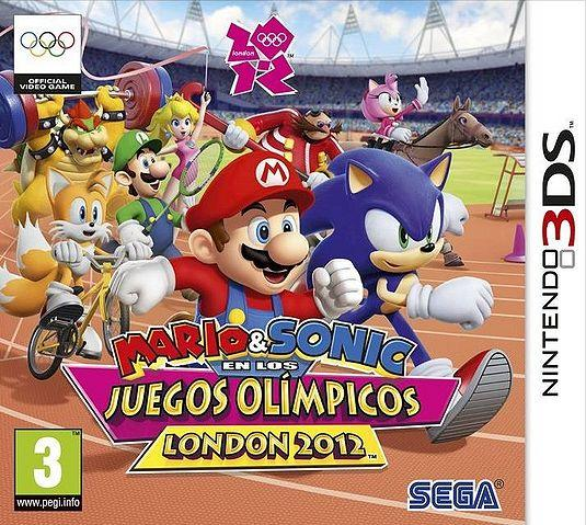 Spanish Box Art for Mario & Sonic at the London 2012 Olympic Games - 3DS Version