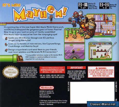 Mario Vs Donkey Kong 2 March Of The Mini S Ds Box Art