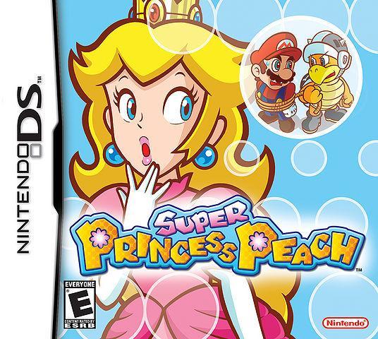 North American Box Art of Super Princess Peach on Nintendo DS