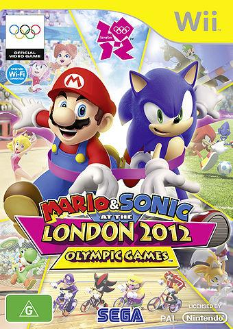 Australian Box Art for Mario & Sonic at the London 2012 Olympic games Wii version