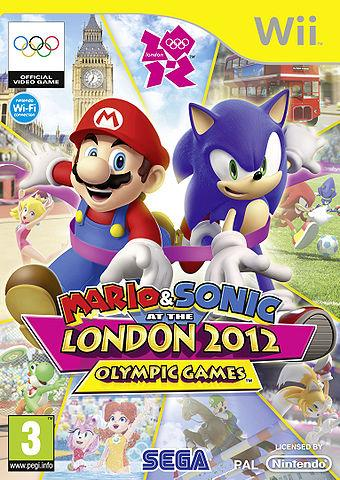 European Box Art for Mario & Sonic at the London 2012 Olympic games Wii version
