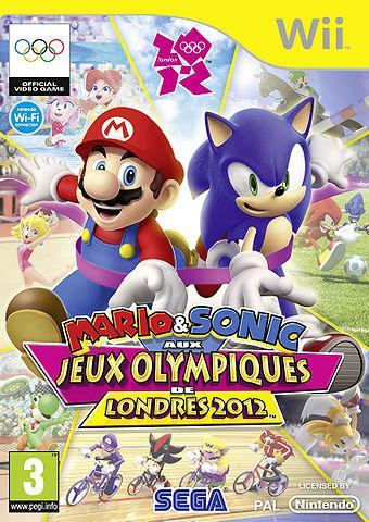 French Box Art for Mario & Sonic at the London 2012 Olympic games Wii version