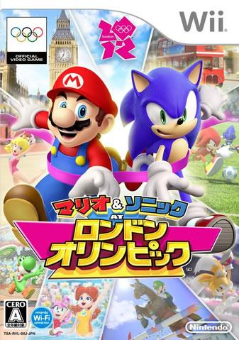Japanese Box Art for Mario & Sonic at the London 2012 Olympic games Wii version