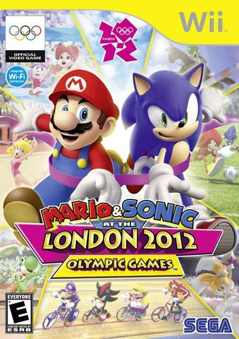 North American Box Art for Mario & Sonic at the London 2012 Olympic games Wii version