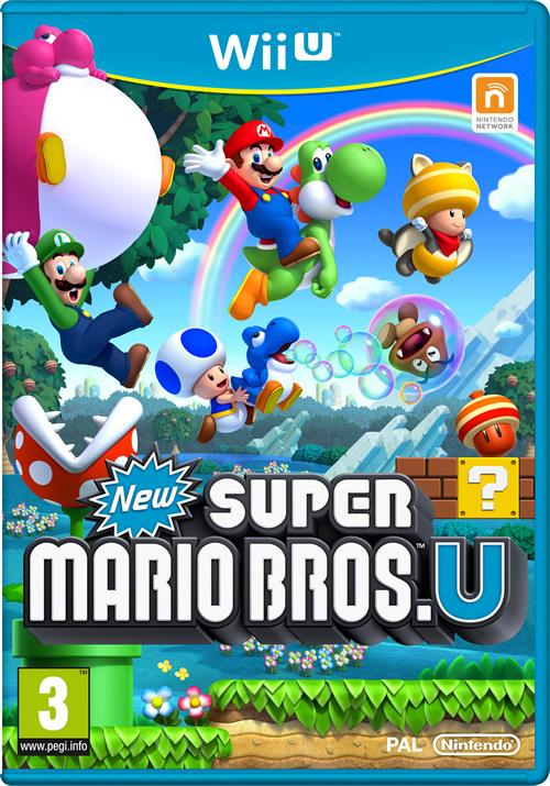 European Box Art for New Super Mario Bros U