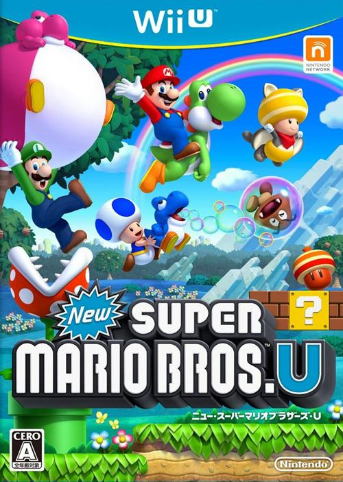 Japanese Box Art for New Super Mario Bros U