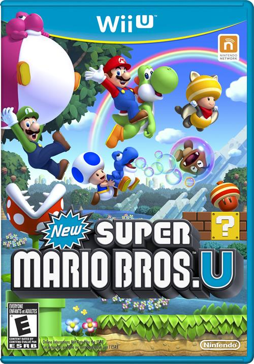 North American Box Art for New Super Mario Bros U