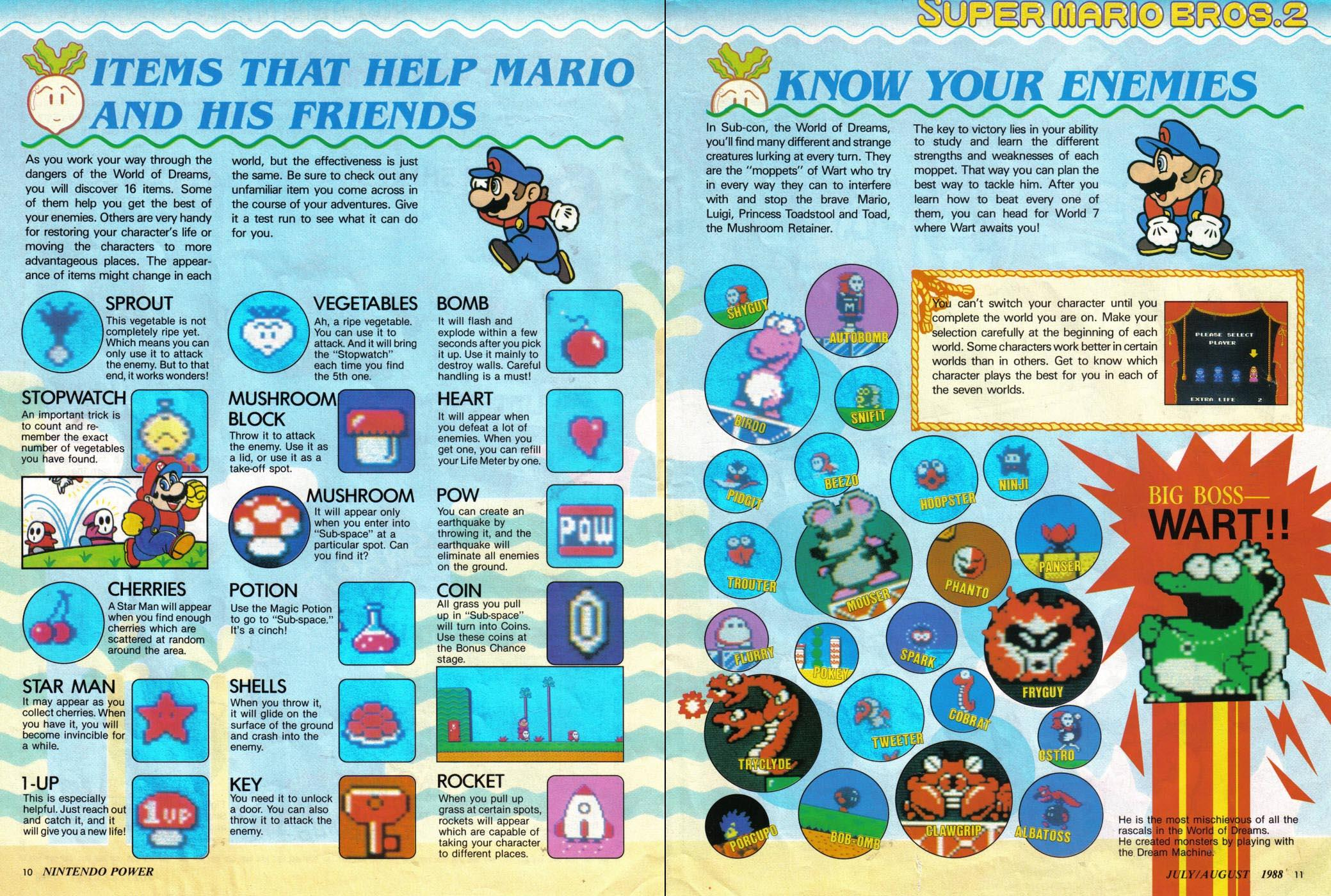 super mario bros 2 in nintendo power vol 1. Black Bedroom Furniture Sets. Home Design Ideas