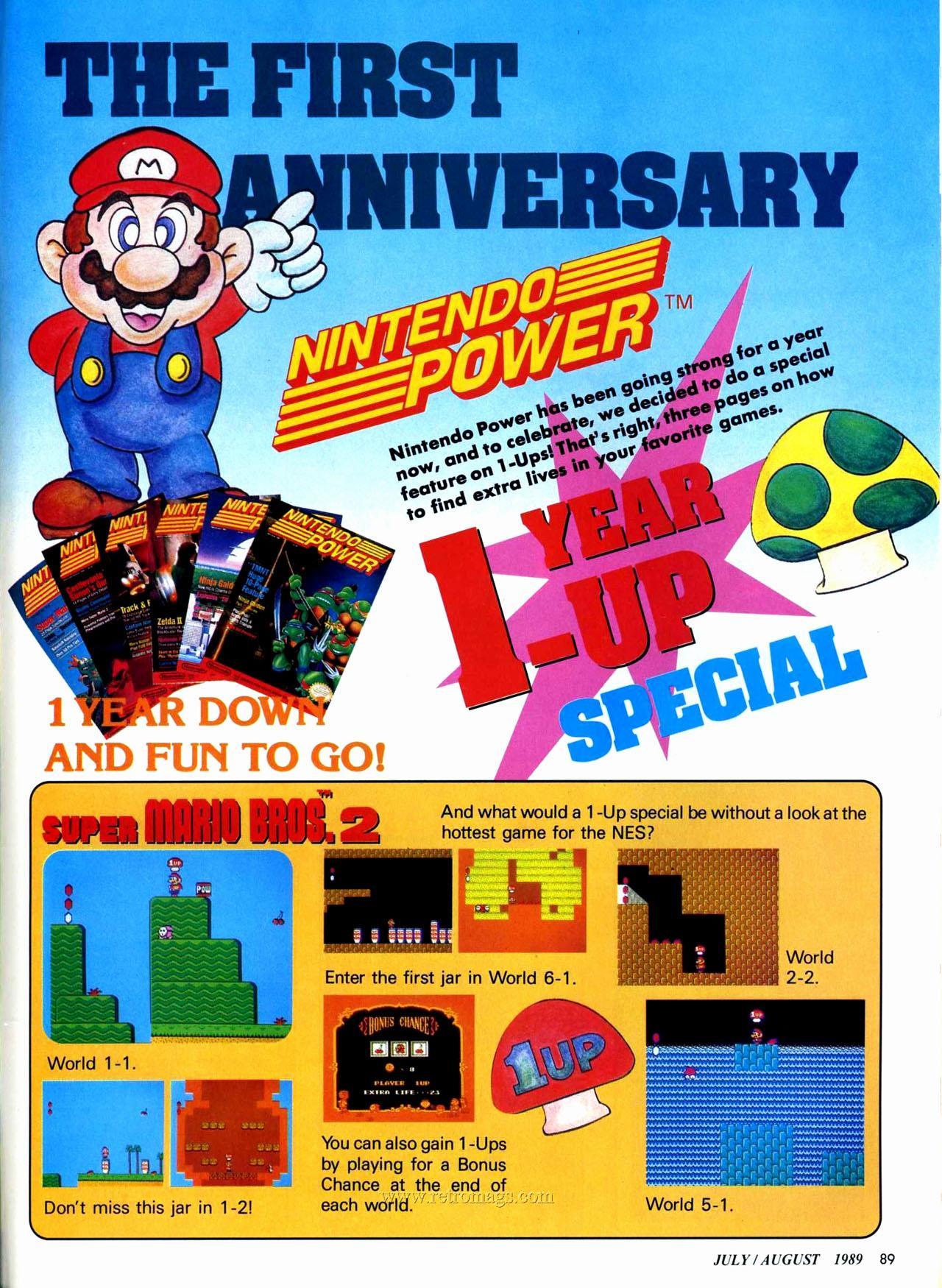 Super Mario Bros  2 - 1 UP Guide in Nintendo Power Vol  7