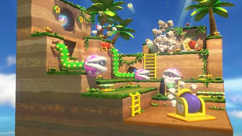 A very Super Mario 3D World inspired scene from Captain Toad: Treasure Tracker