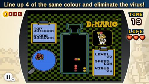A screenshot from NES Remix 2 Dr Mario Challenge 1