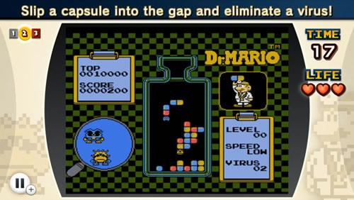 A screenshot from NES Remix 2 Dr Mario Challenge 2