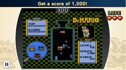 A screenshot from NES Remix 2 Dr Mario Challenge 4
