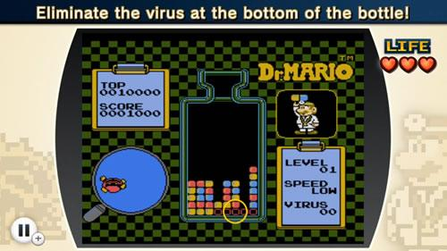 A screenshot from NES Remix 2 Dr Mario Challenge 5