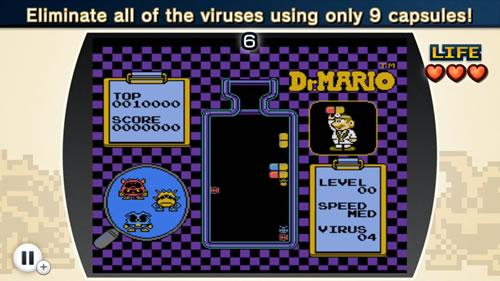A screenshot from NES Remix 2 Dr Mario Challenge 6