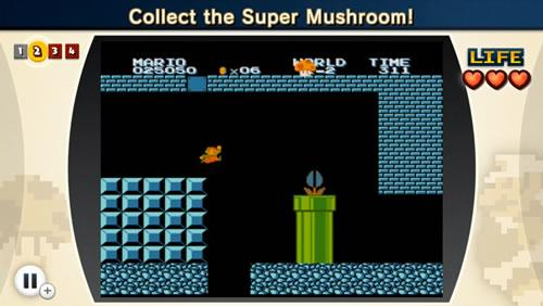 A screenshot from the fourth Super Mario Bros. Lost Levels challenge in NES Remix 2