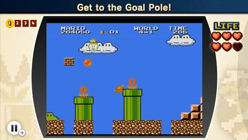 A screenshot from the fifth Super Mario Bros. Lost Levels challenge in NES Remix 2