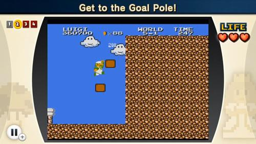 A screenshot from the sixth Super Mario Bros. Lost Levels challenge in NES Remix 2