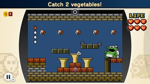Playing as Mario, give Wart his daily dose of Vegetables