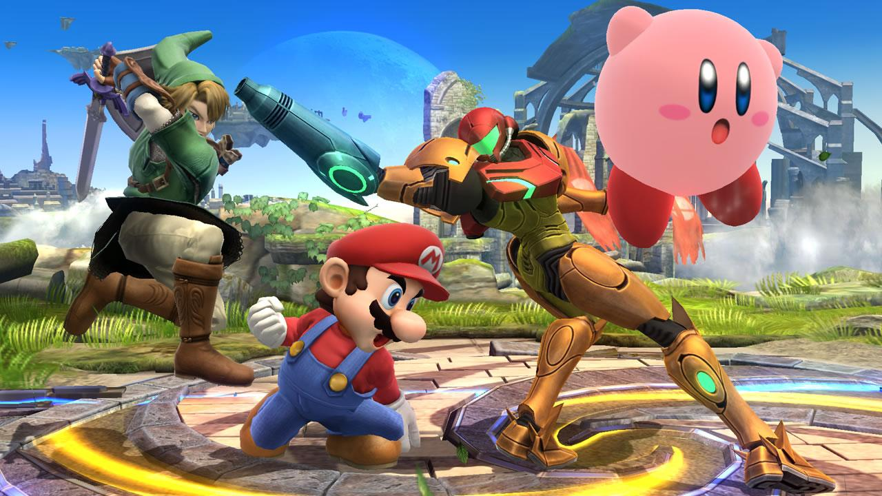 Mario, Link, Samus and Kirby battle it out
