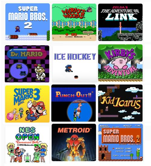 The titlescreens of all the 8 Bit Classics in NES Remix 2