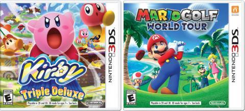 Mario Golf: World Tour and Kirby Triple Deluxe on 3DS