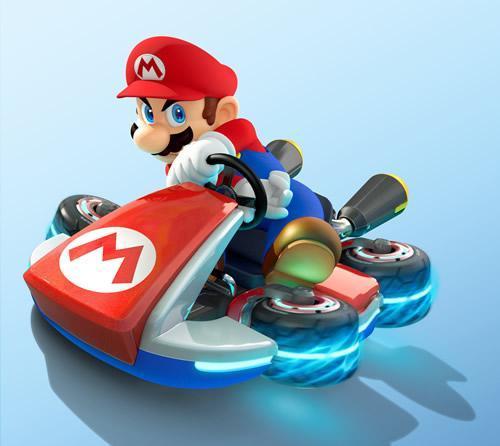 Mario in his Kart in MK8