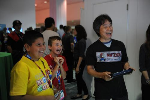 Nintendo Kids Corner event photo 4 with Shigeru Miyamoto again