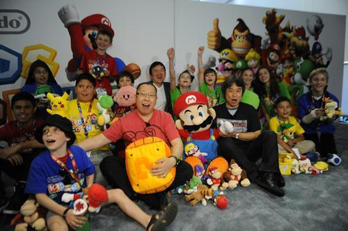Nintendo Kids Corner event photo 5 with lots of Mario soft toys