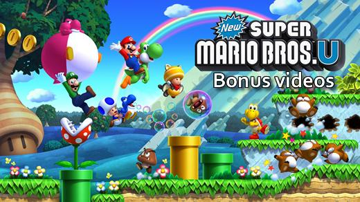 New Super Mario Bros U bonus videos