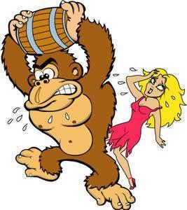 Donkey Kong and Pauline