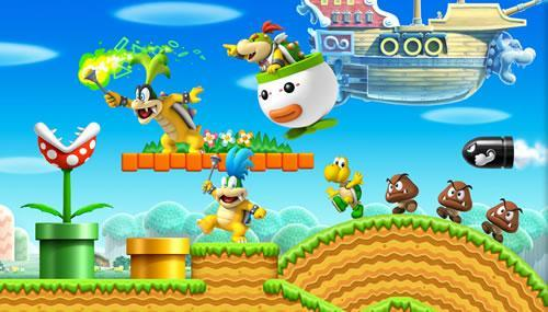 Art scene featuring Bowser Jr, Iggy, Larry, Koopa Troopa and Goomba