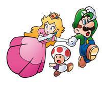 Luigi, Princess and Toad