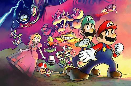 An artwork from Mario & Luigi: Superstar Saga