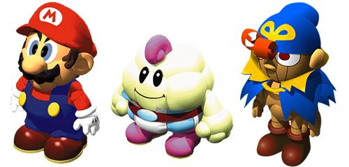 Mario, Mallow and Geno in Super Mario RPG Legend of the Seven Stars