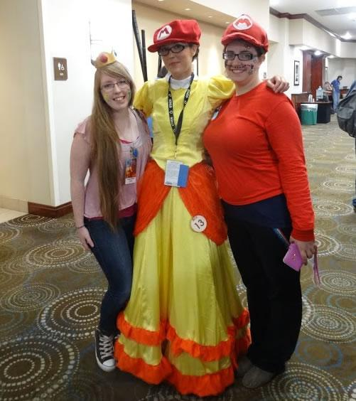 Peach, Daisy and Mario at Spocon 2014