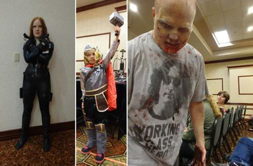 Widow Diva, Chibi Thor, Professional Zombie